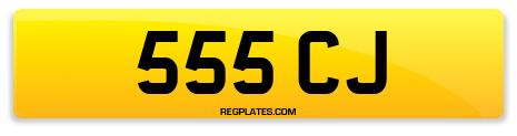 Registration 555 CJ