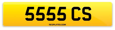 Registration 5555 CS