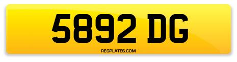 Registration 5892 DG