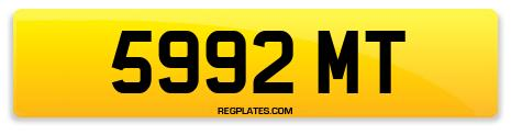 Registration 5992 MT