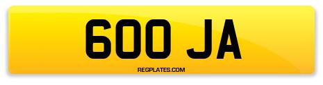 Registration 600 JA