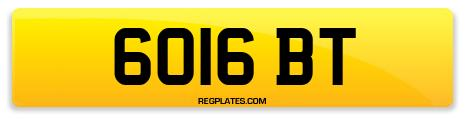 Registration 6016 BT
