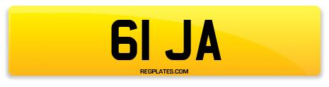 Registration 61 JA