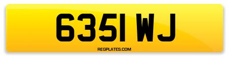 Registration 6351 WJ