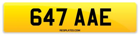 Registration 647 AAE