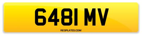 Registration 6481 MV