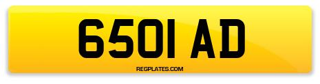 Registration 6501 AD