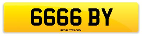 Registration 6666 BY