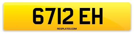 Registration 6712 EH