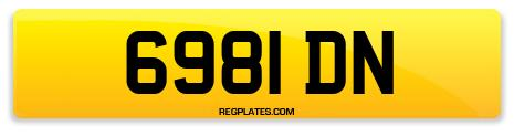 Registration 6981 DN