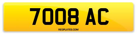 Registration 7008 AC