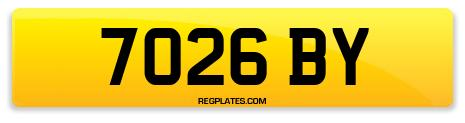 Registration 7026 BY