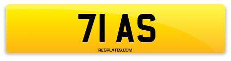 Registration 71 AS