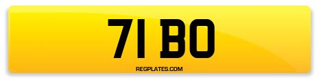 Registration 71 BO