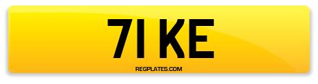 Registration 71 KE