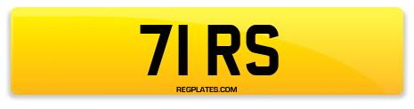 Registration 71 RS