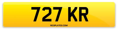 Registration 727 KR