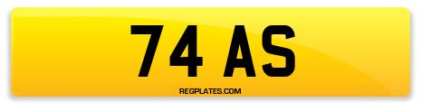 Registration 74 AS