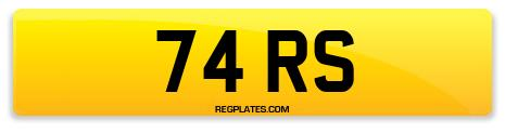 Registration 74 RS
