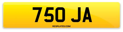Registration 750 JA