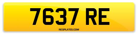Registration 7637 RE
