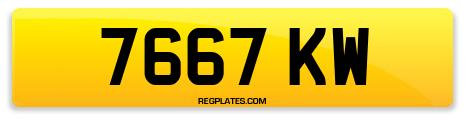 Registration 7667 KW