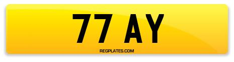 Registration 77 AY