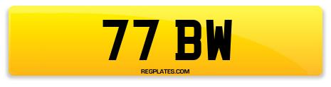 Registration 77 BW