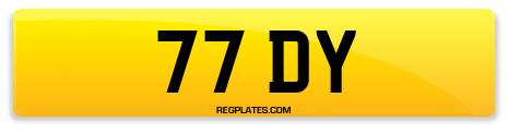 Registration 77 DY