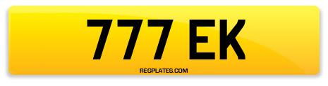 Registration 777 EK