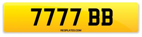 Registration 7777 BB