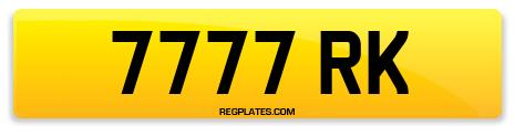 Registration 7777 RK