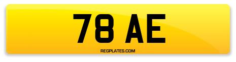 Registration 78 AE