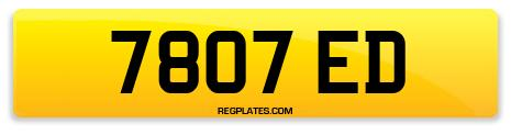 Registration 7807 ED