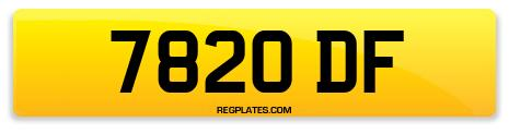 Registration 7820 DF