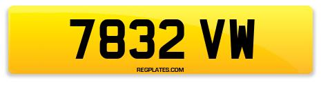 Registration 7832 VW