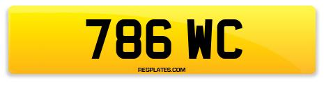 Registration 786 WC