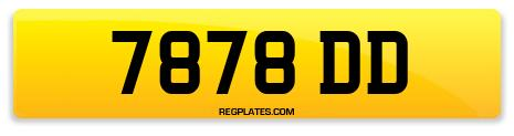 Registration 7878 DD