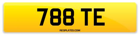Registration 788 TE