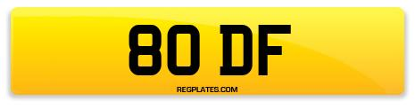 Registration 80 DF