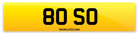 Registration 80 SO