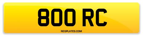 Registration 800 RC