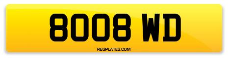 Registration 8008 WD