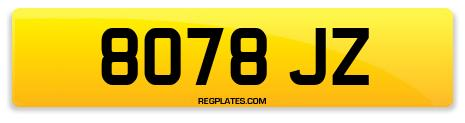 Registration 8078 JZ