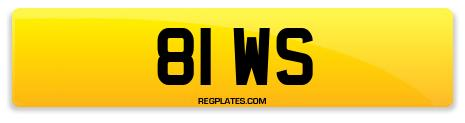 Registration 81 WS