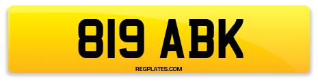 Registration 819 ABK