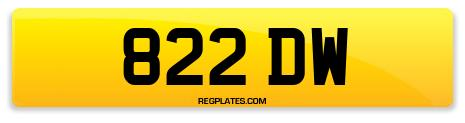 Registration 822 DW