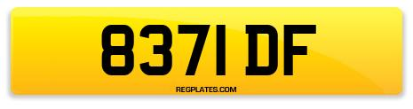 Registration 8371 DF