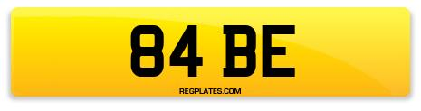 Registration 84 BE