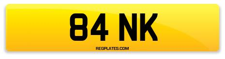 Registration 84 NK